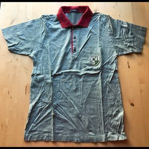 Celine Mens T Shirt Polo Golf Size L Made in Italy